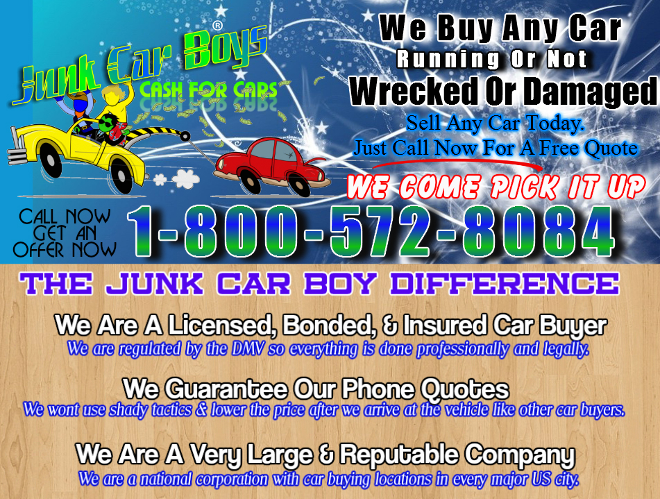 Cash For Cars Fort Worth Tx - We Buy Junk Vehicles Same Day